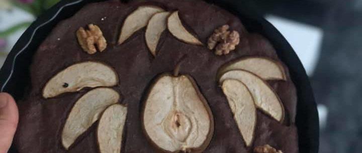 Hruškový koláč s Reishi